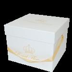 Kvadratinė dėžutė balta